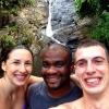 na výlete s domácim - pri vodopádoch
