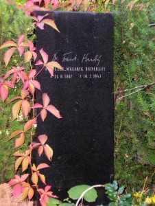 hrob Františka Hrubého v Brně