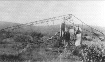 THE BURNT REMAINS OF LEUTNANT FIEDLER'S ROLAND, DESTROYED IN 1916