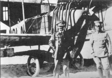 THE GERMAN L F G ROLAND, FLOWN BY LEUTNANT FIEDLER (LEFT)